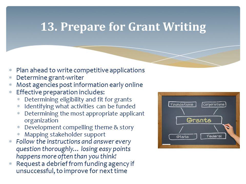 grant writing agencies