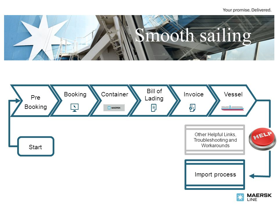 Smooth Sailing Start Import Process BookingContainer Bill Of Lading - Maersk invoice tracking