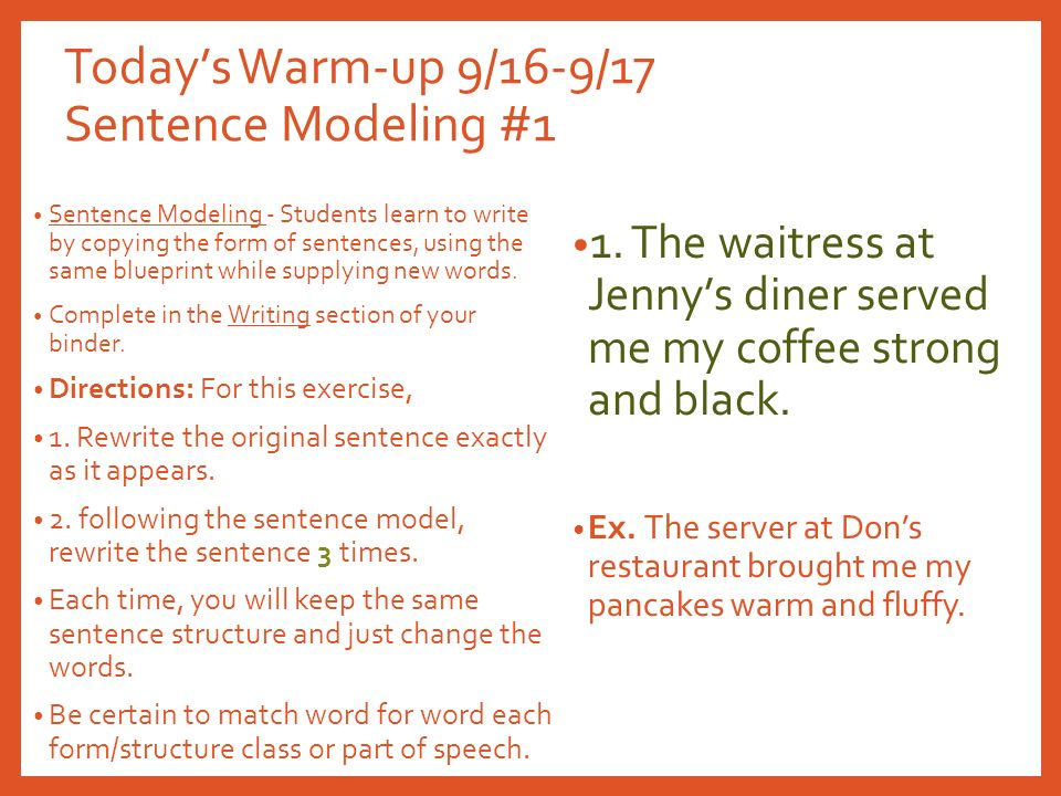 Ms c gordon todays warm up 916 917 sentence modeling 1 2 todays malvernweather Image collections
