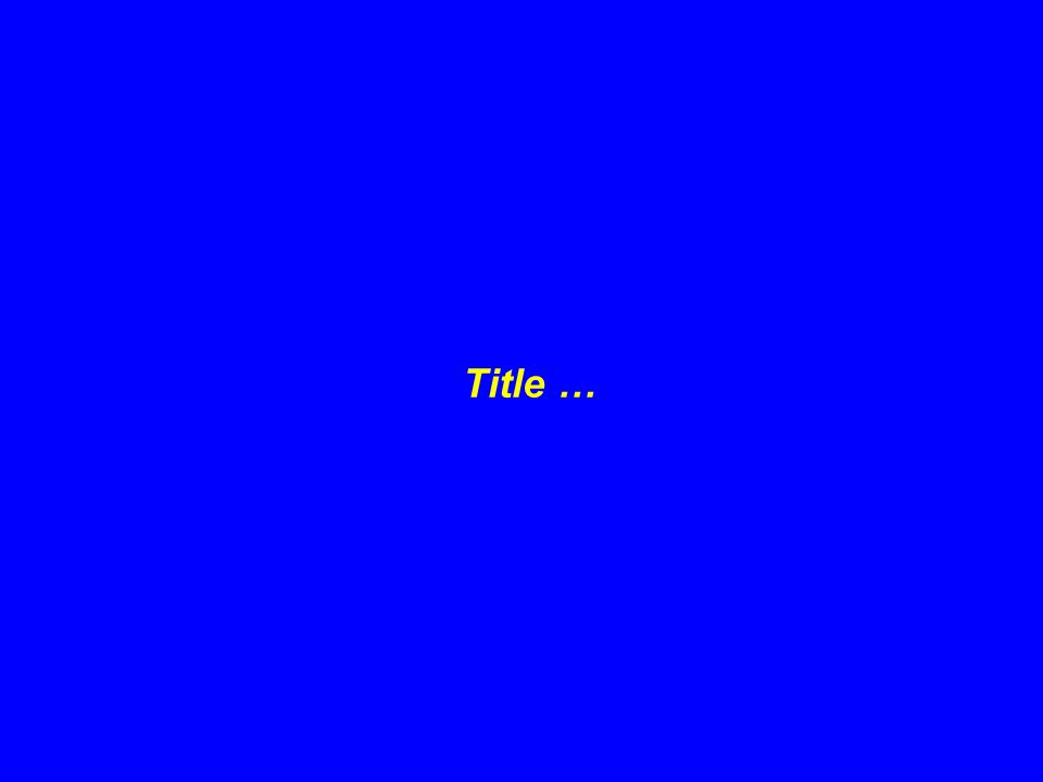 Title …