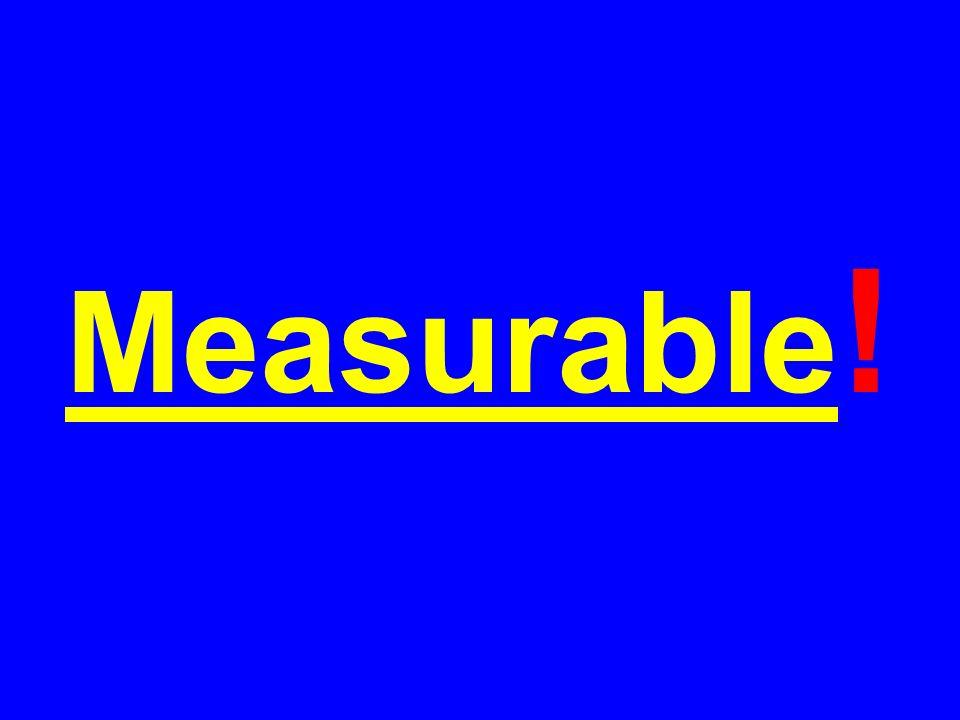 Measurable !