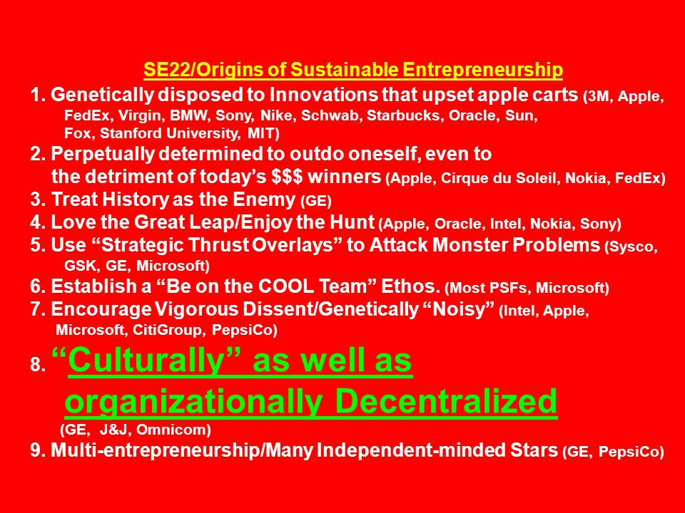 SE22/Origins of Sustainable Entrepreneurship 1.