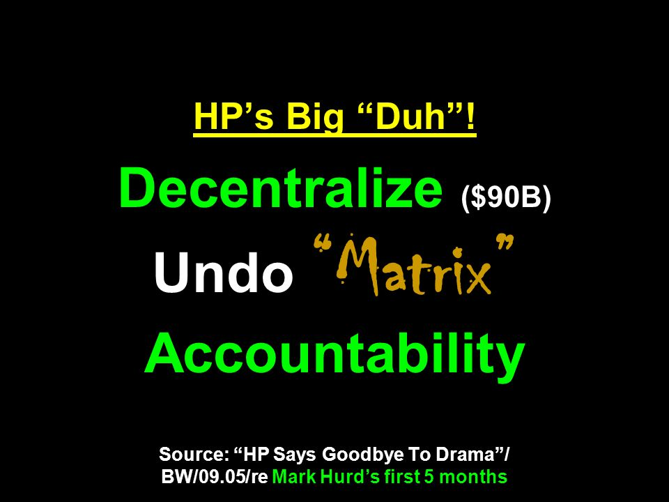 HP's Big Duh .