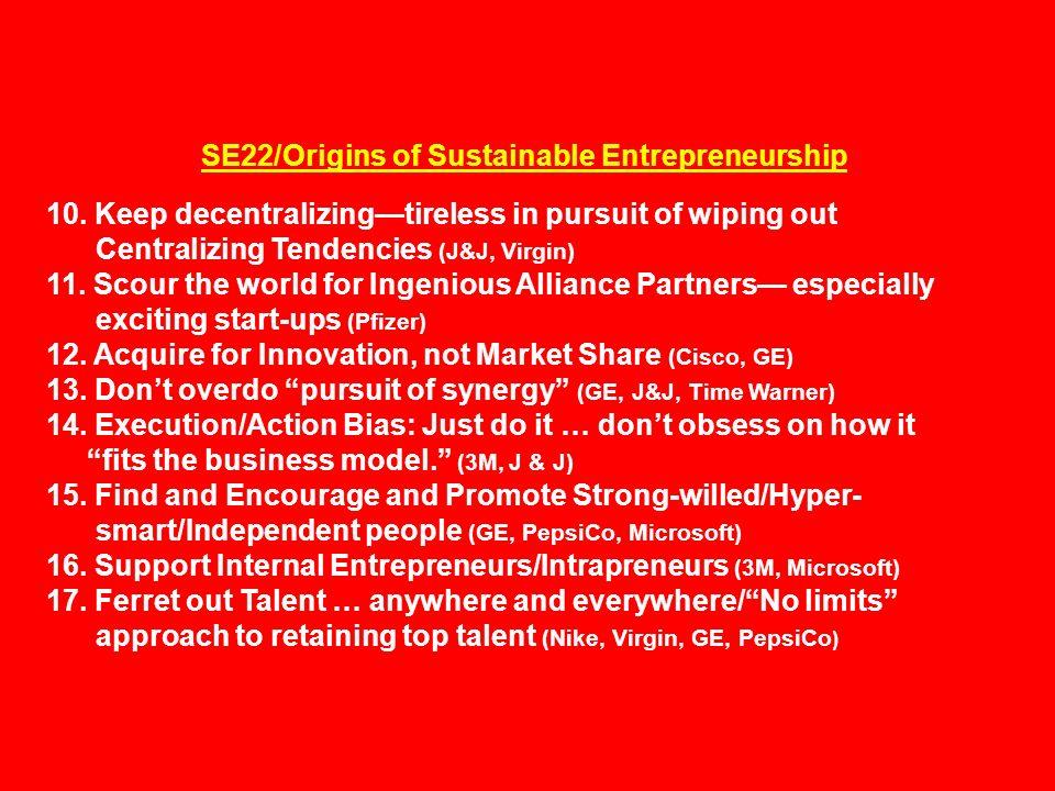 SE22/Origins of Sustainable Entrepreneurship 10.