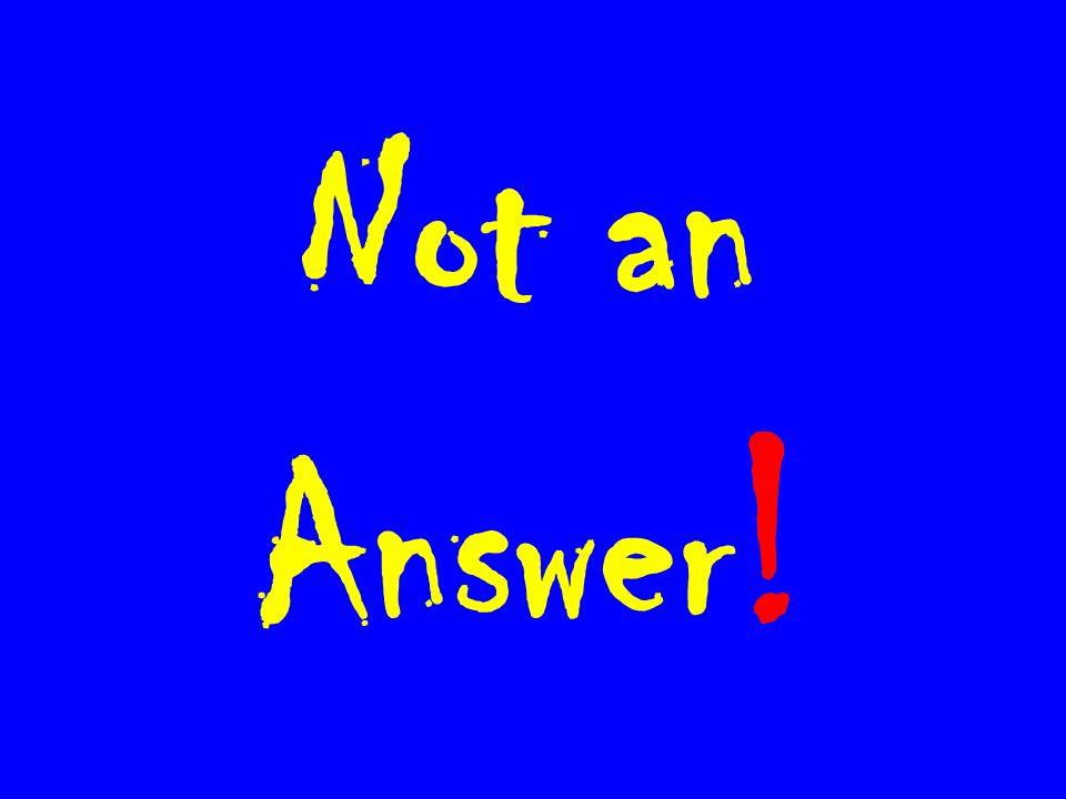 Not an Answer !