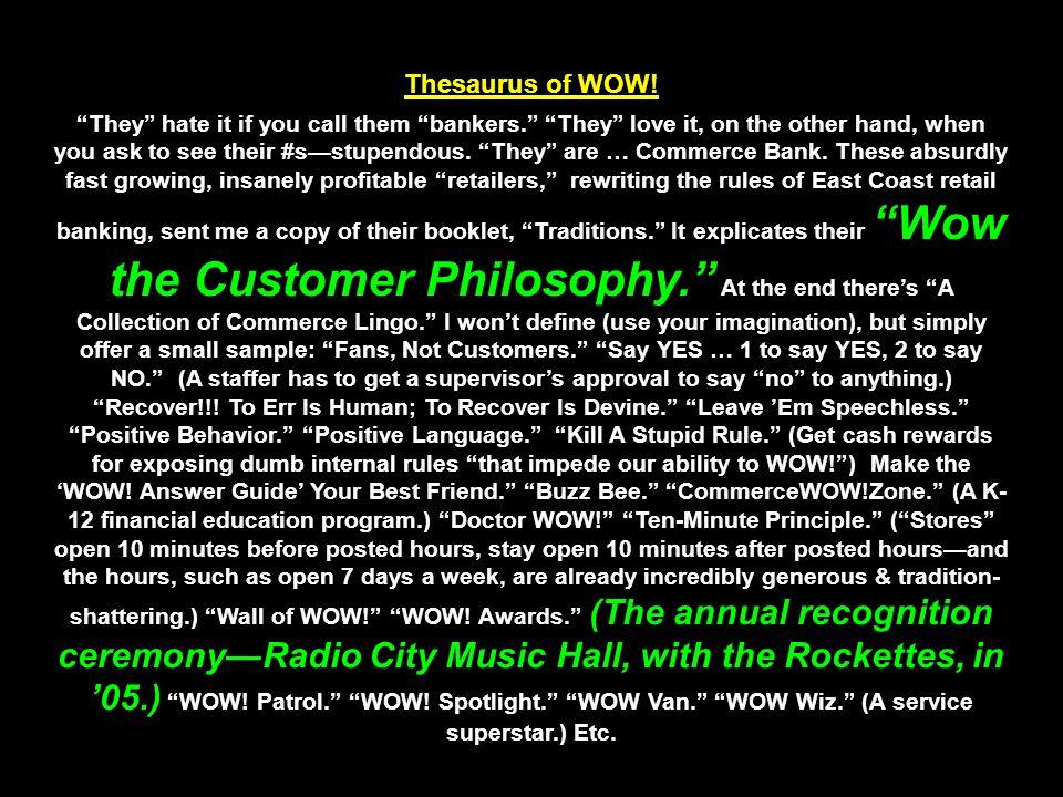 Thesaurus of WOW.