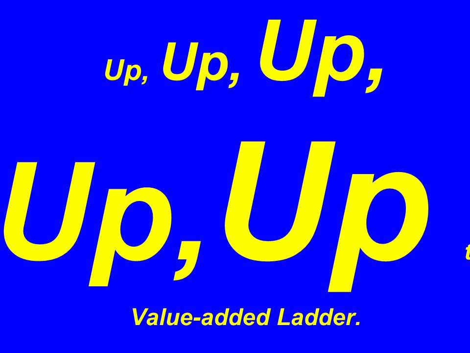Up, Up, Up, Up, Up the Value-added Ladder.