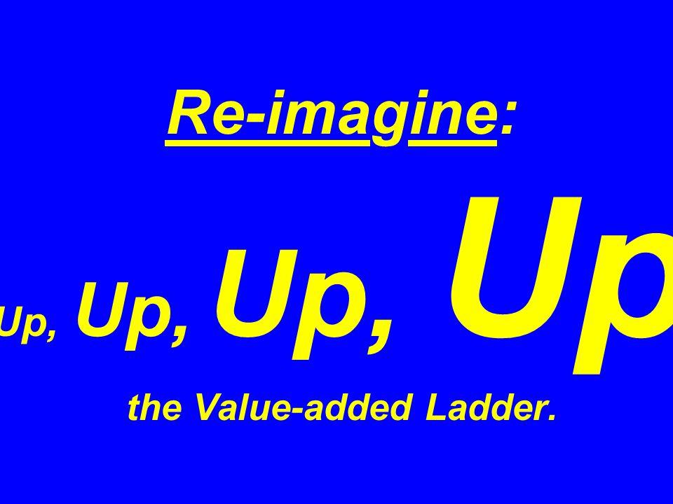 Re-imagine: Up, Up, Up, Up the Value-added Ladder.
