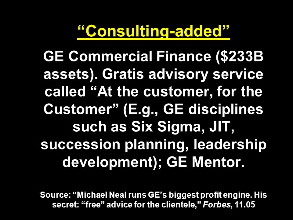 Consulting-added GE Commercial Finance ($233B assets).