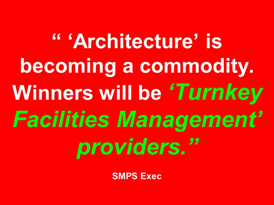 'Architecture' is becoming a commodity.