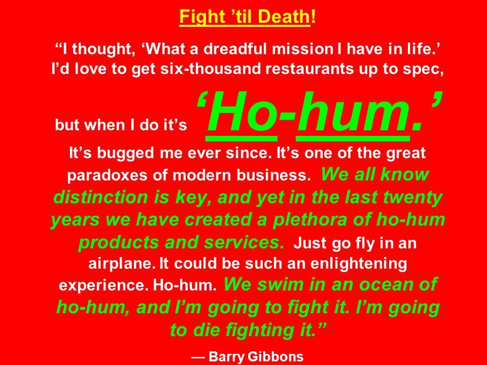 Fight 'til Death.