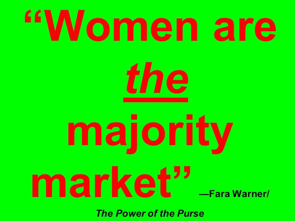 Women are the majority market —Fara Warner/ The Power of the Purse