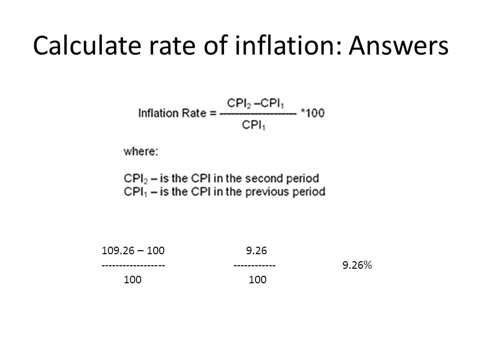 calculate inflation