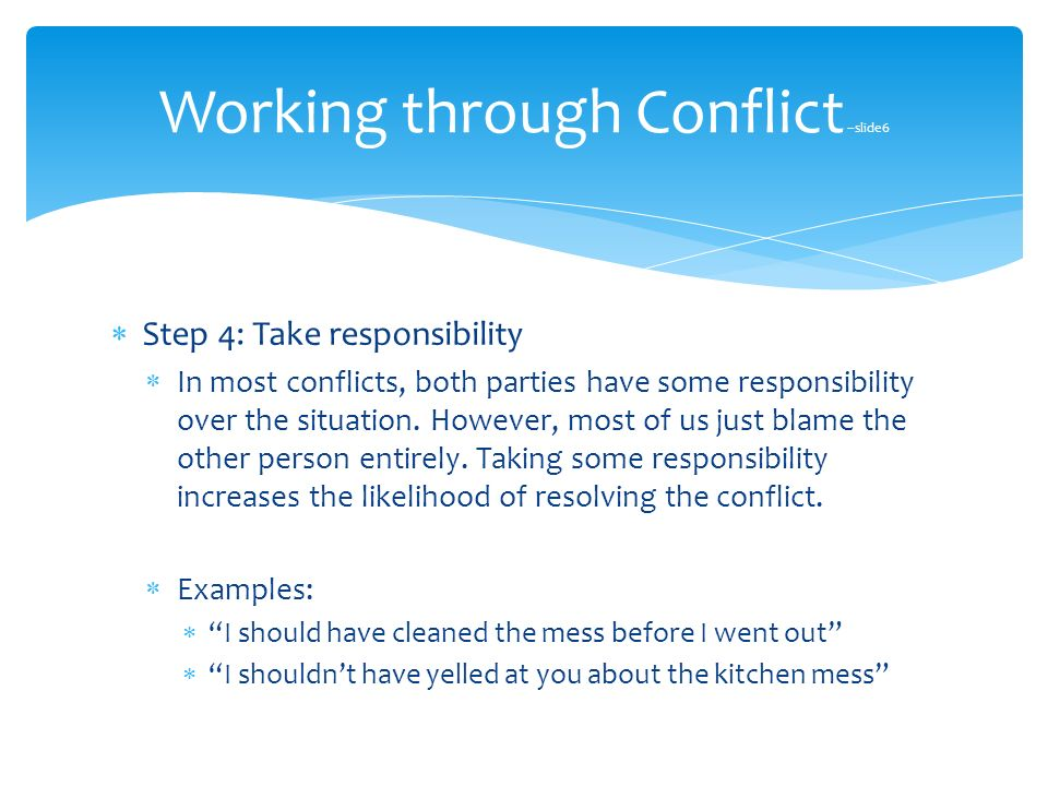 a conflict to responsibilities