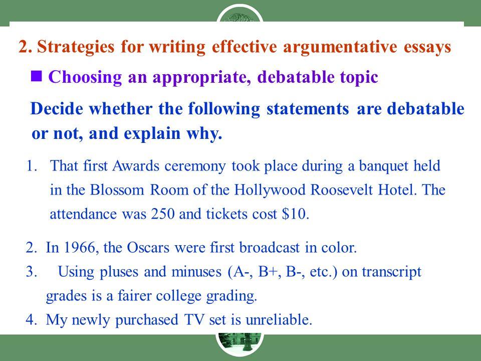 argumentative essays 1