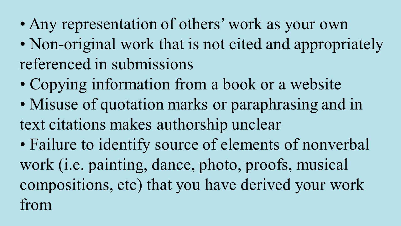 academic integrity and originality