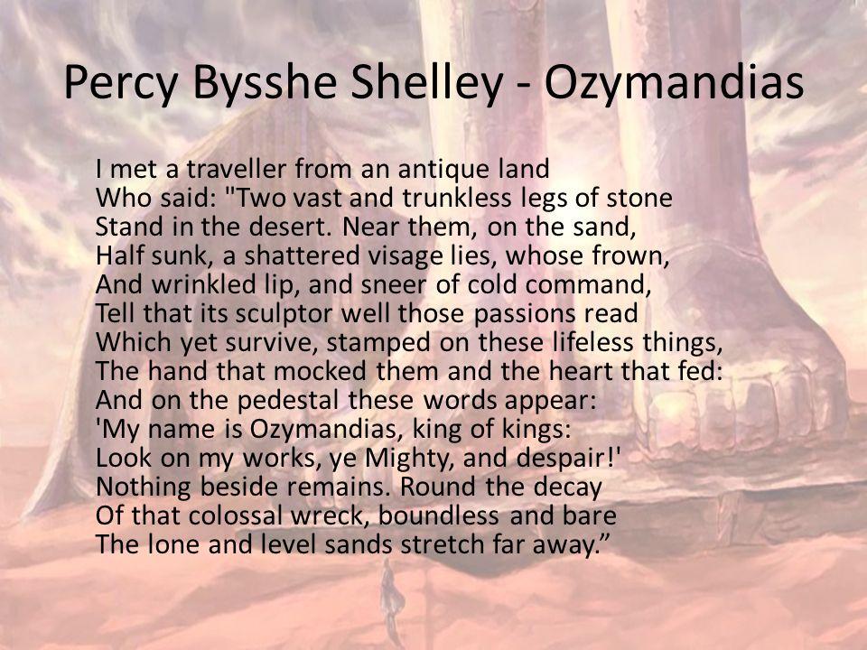 Irony in Ozymandias by Percy Bysshe Shelley Essay