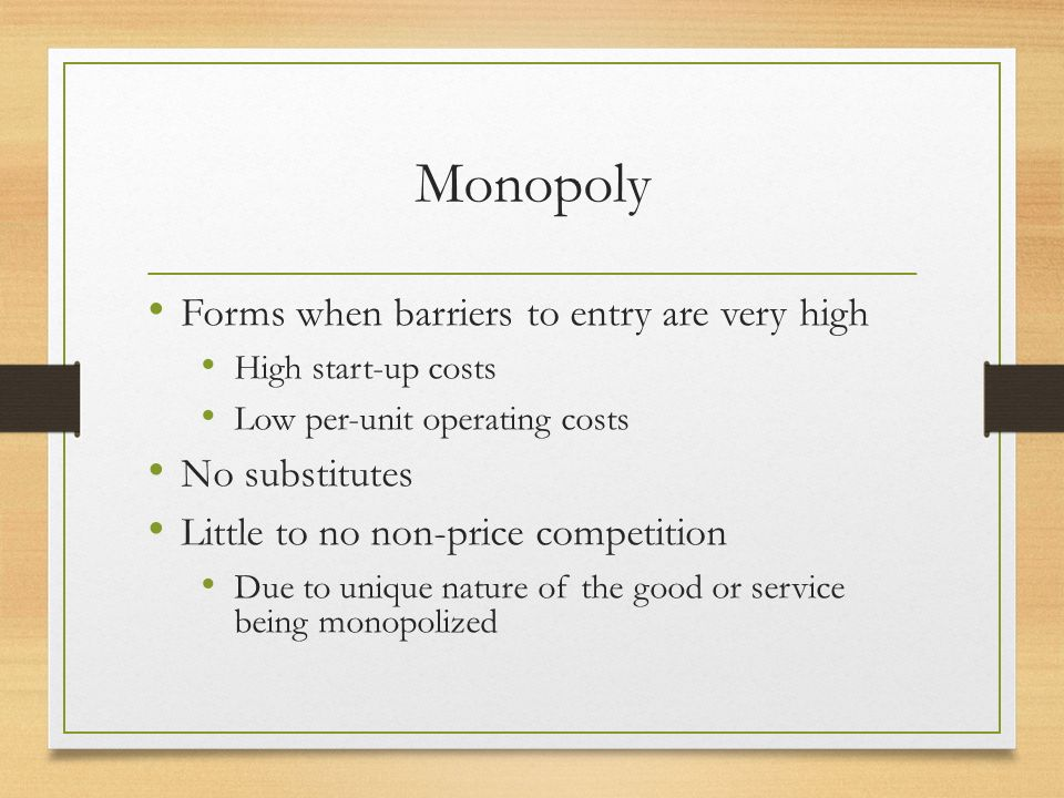 non price barriers to entry