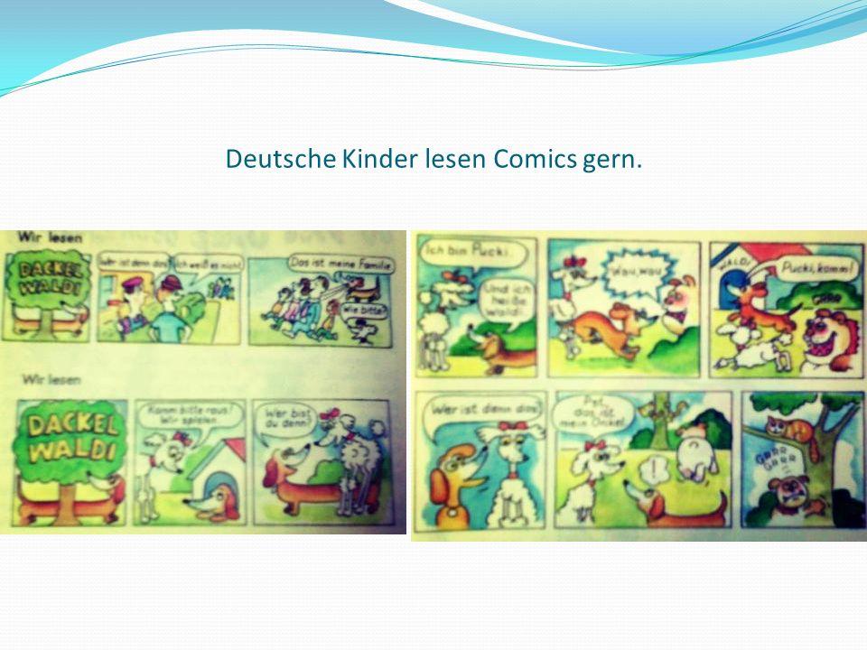 Deutsche Kinder lesen Comics gern.
