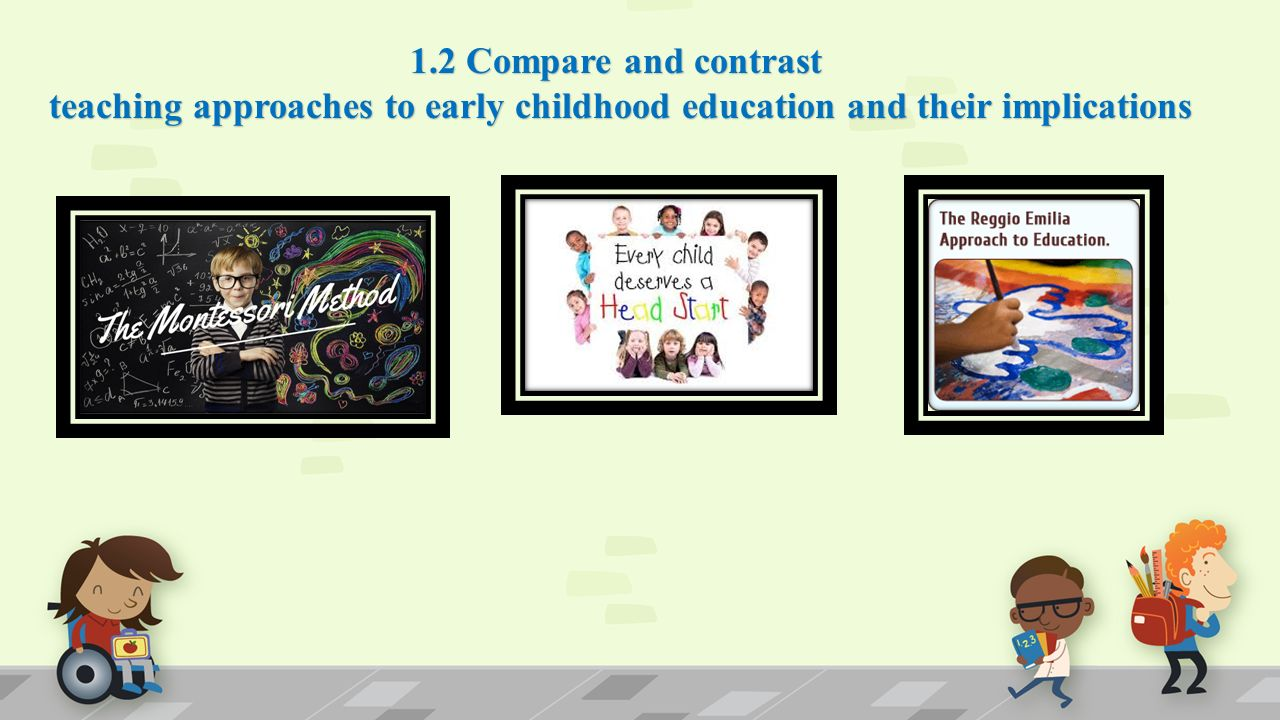 early childhood education compare contrast Study ech539 methods of teaching in early childhood: math and compare and contrast constructivist technology in early childhood math and science education.