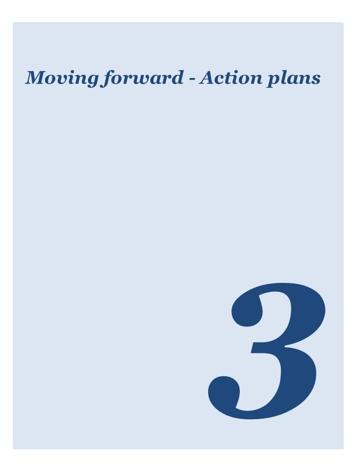 Moving forward - Action plans 3