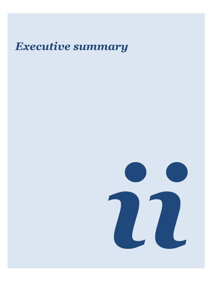 Executive summary ii