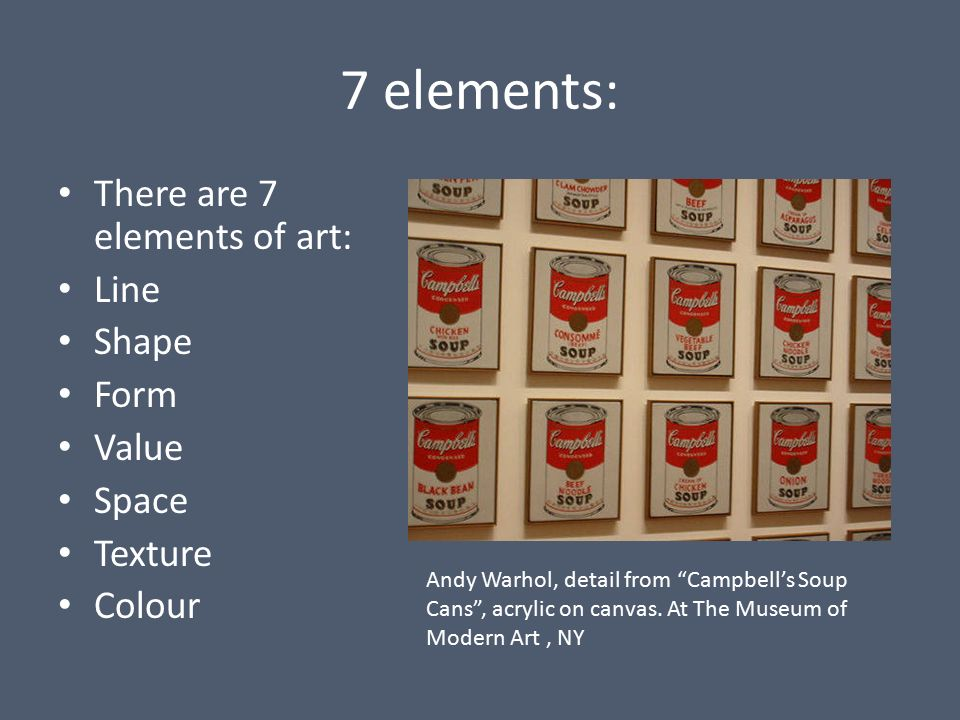 Elements Of Art Line Quizlet : Elements of art taking something ordinary and breaking it down