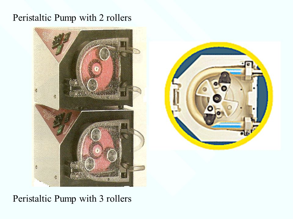 Peristaltic Pump with 2 rollers Peristaltic Pump with 3 rollers