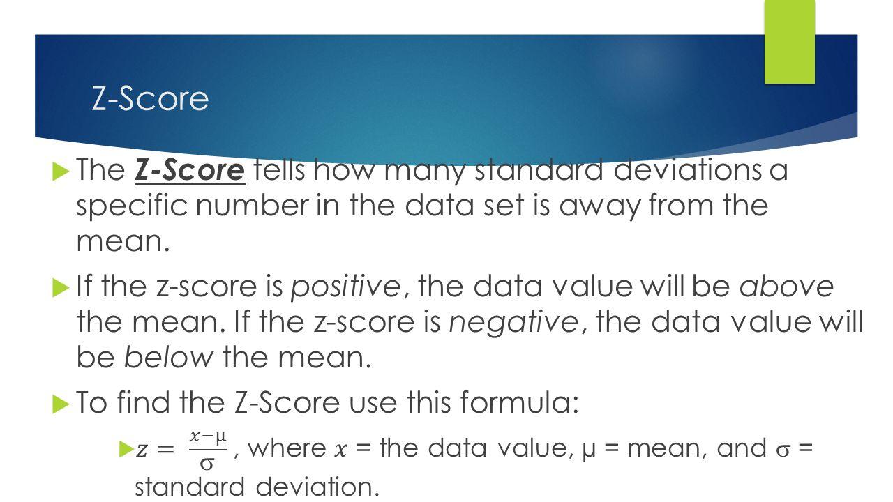 10 Zscore Data Analysis Standard Deviation