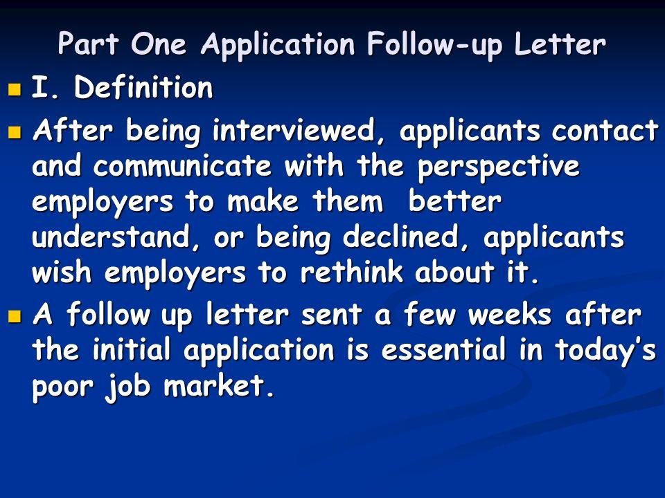 Unit Nine Application Followup Letter Resignation Letter ppt