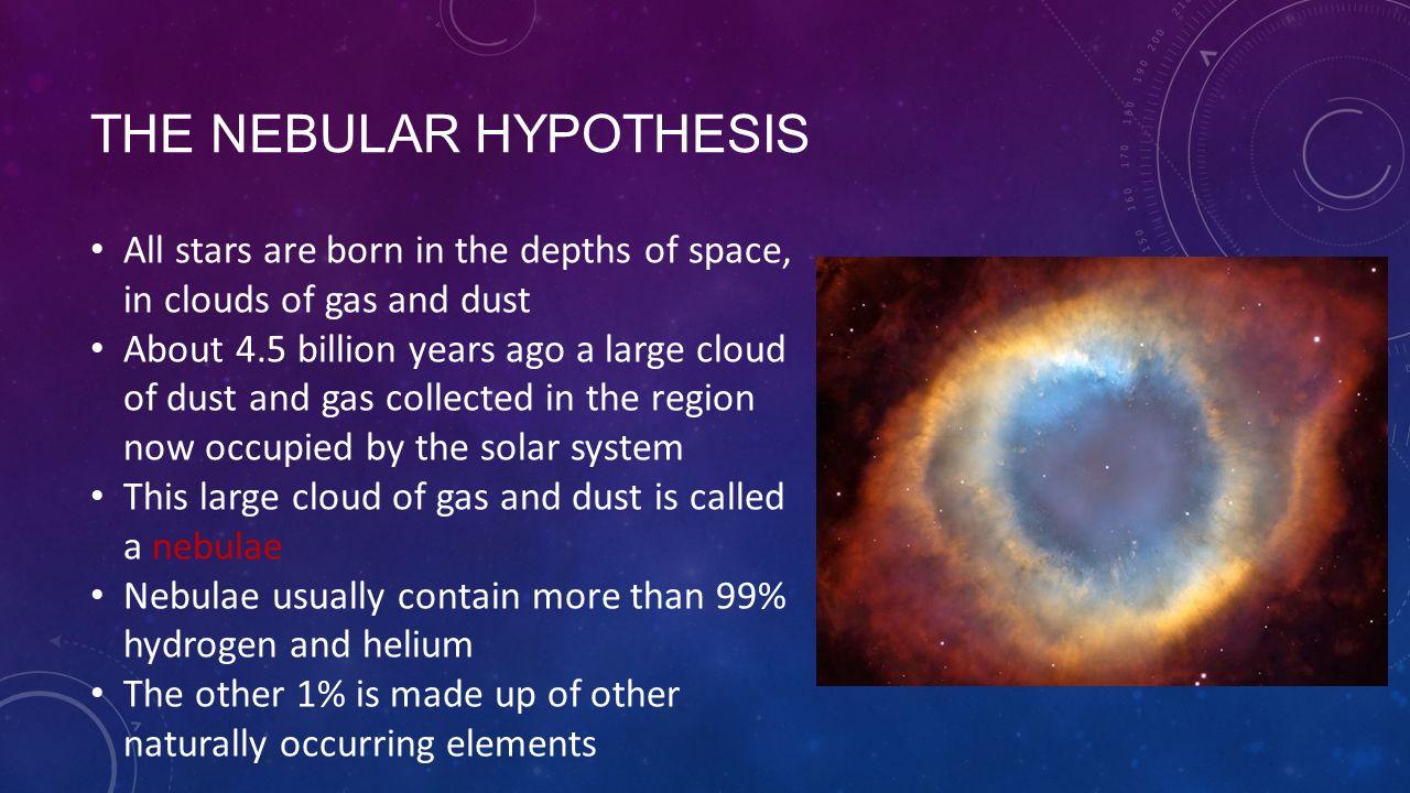 nebular hypthesis