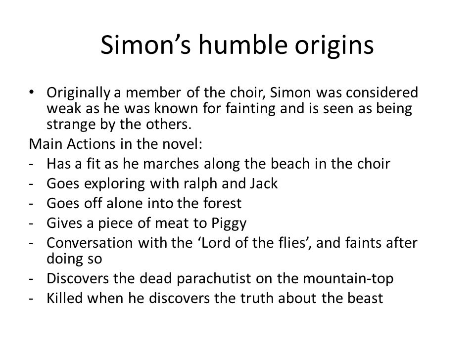 character analysis in lord of the flies simon simon s humble  character analysis in lord of the flies simon 2 simon s