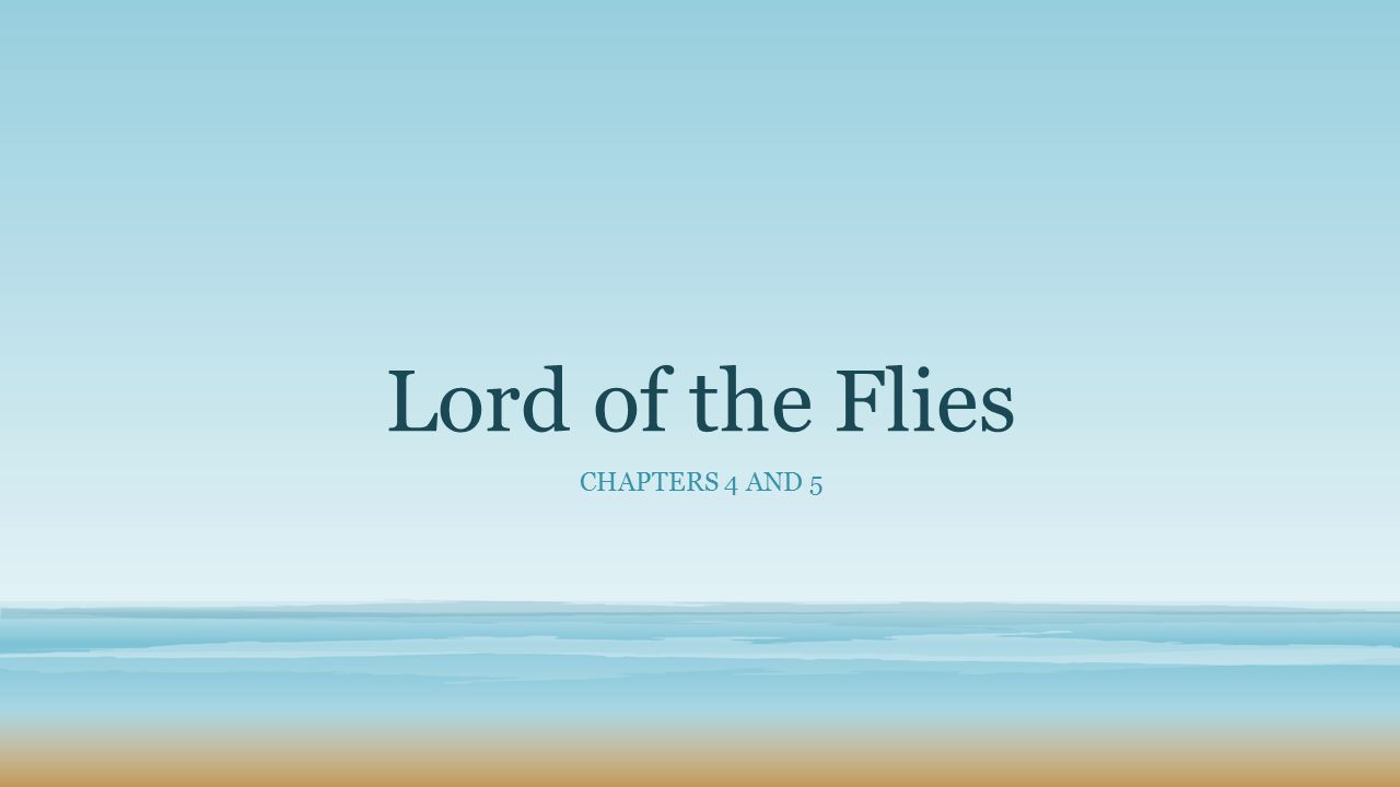 lord of the flies ch 4