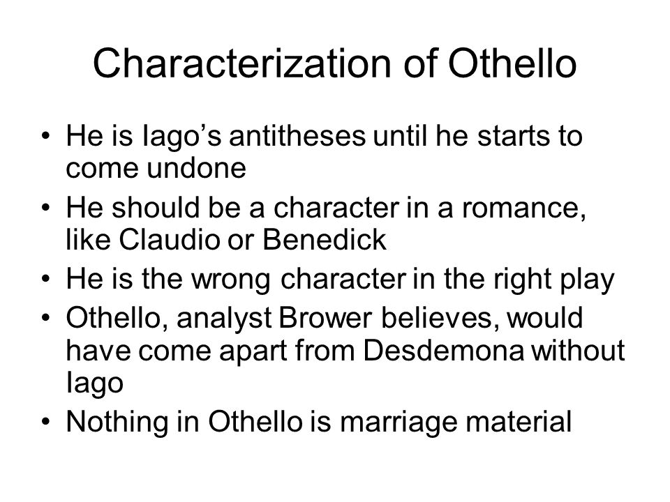 an analysis of the characters of othello and iago
