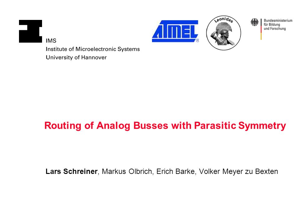 Schreiner Hannover routing of analog busses with parasitic symmetry lars schreiner