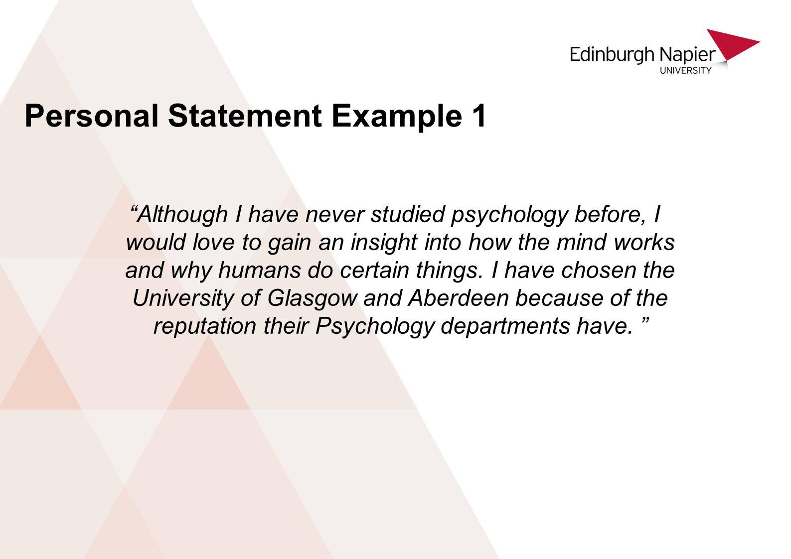 personal statement psychology