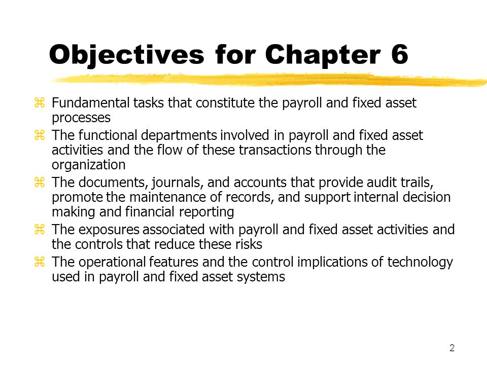 objectives of payroll accounting Unit objectives accounting i accounting concepts 1 define terminology related to cash control and banking activities 2 identify cash control procedures (eg signature cards and deposit slips.