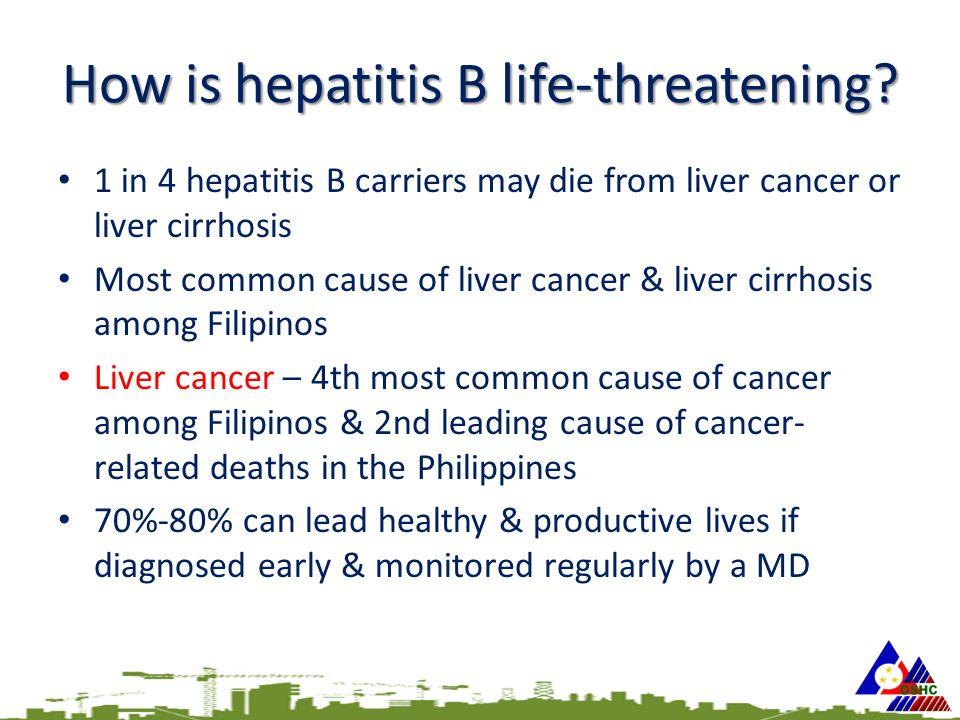 How is hepatitis B life-threatening.