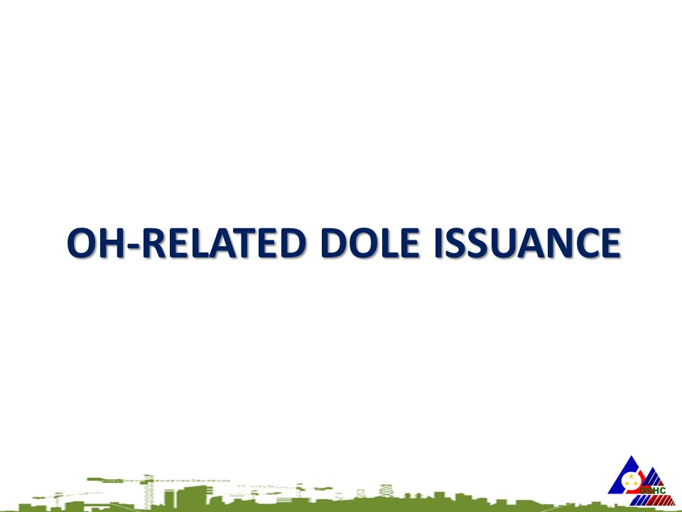 OH-RELATED DOLE ISSUANCE