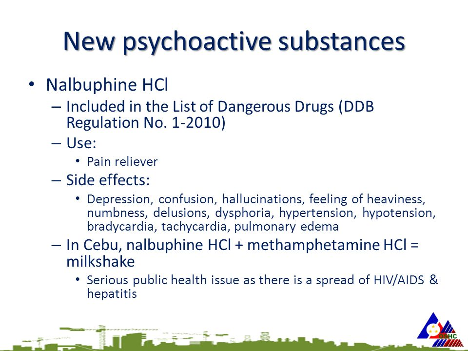 New psychoactive substances Nalbuphine HCl – Included in the List of Dangerous Drugs (DDB Regulation No.