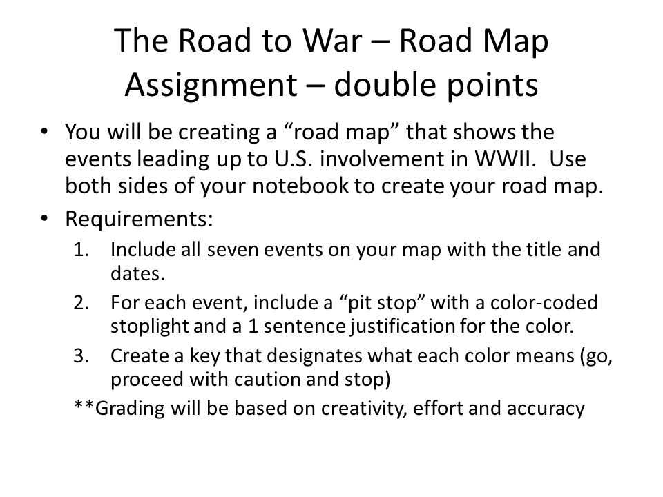 The Road To War Road Map Assignment Double Points You Will Be - Us colored road map