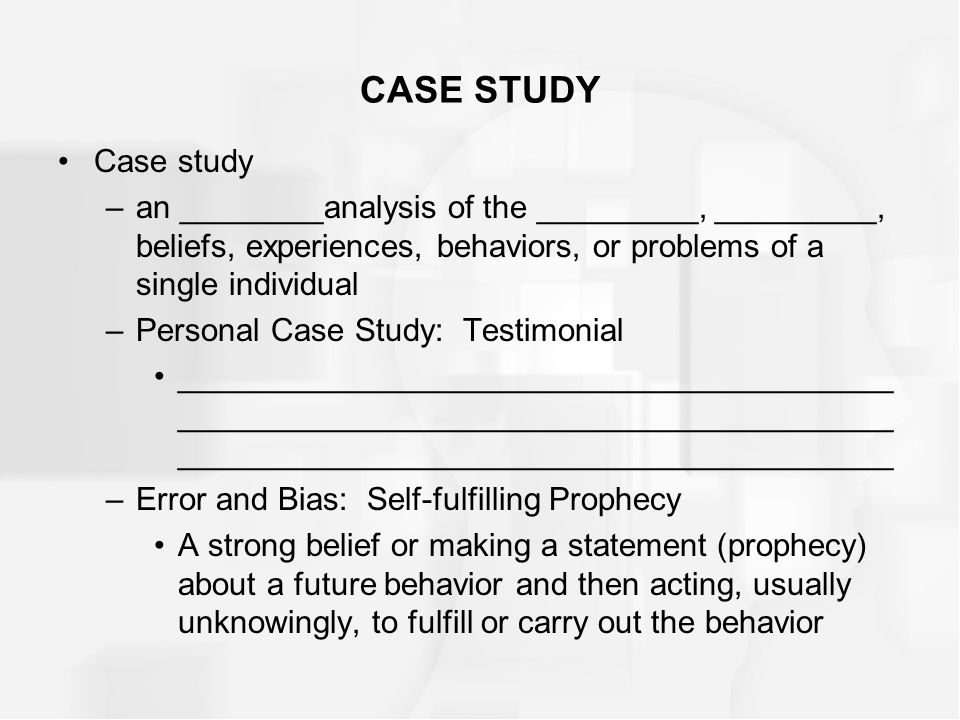 Dissertation Research Methods Case Study