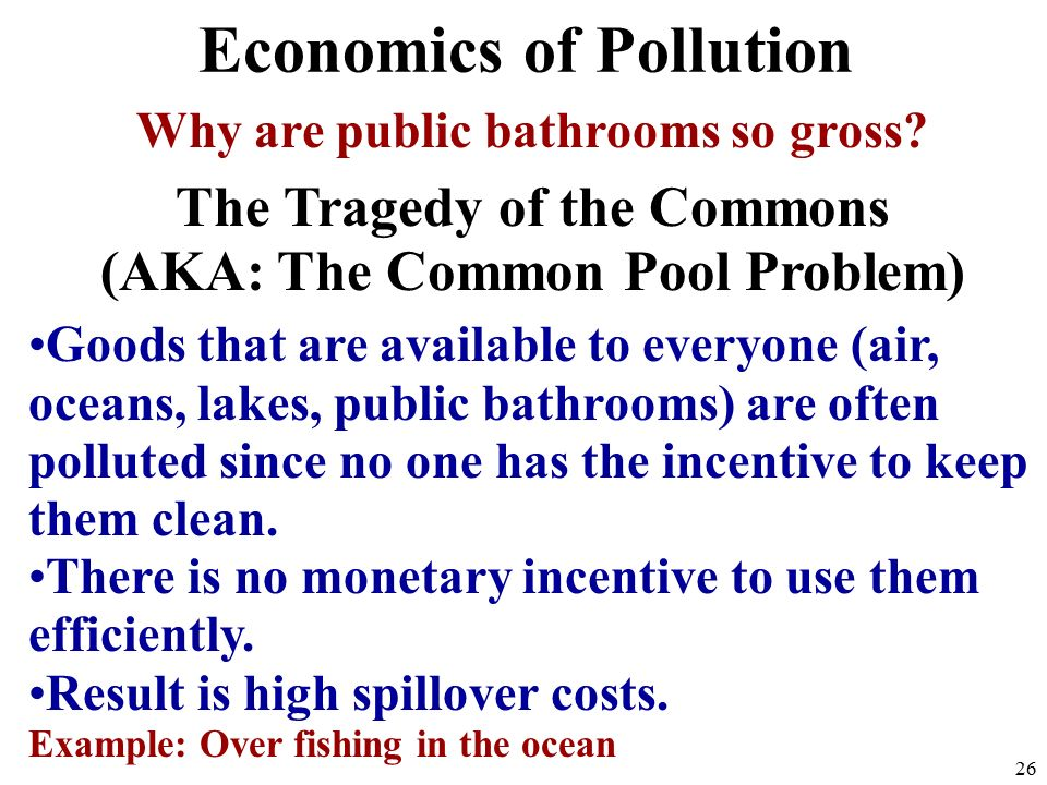 Economics of Pollution Why are public bathrooms so gross.