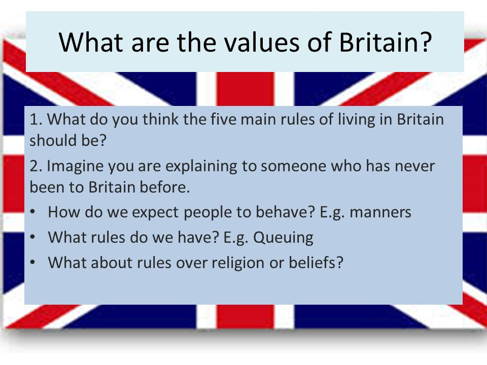 Can you be british and religious lo to explore what its like to what are the values of britain 1 altavistaventures Choice Image