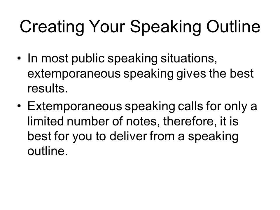 extemporaneous speech outline