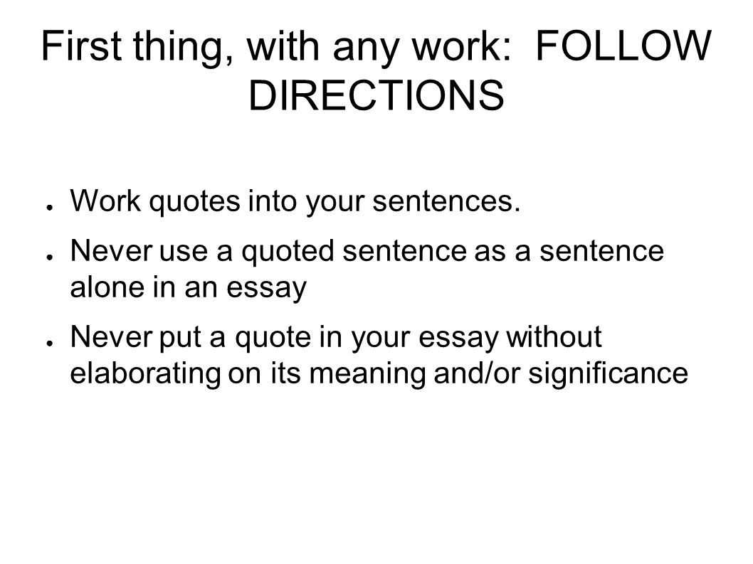 quotes in an essay conclusion Writing introductions & conclusions quote: make use of the an unusual quote by albert einstein is used to introduce an essay on restricting cell phone use.