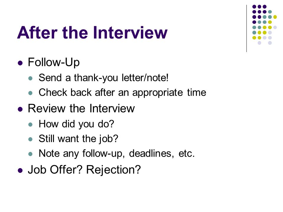 how to follow up on a job interview
