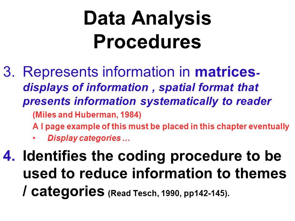 QUALITATIVE DATA ANALYSIS RESEARCH STRATEGY IDENTIFICATION – Data Analysis Format