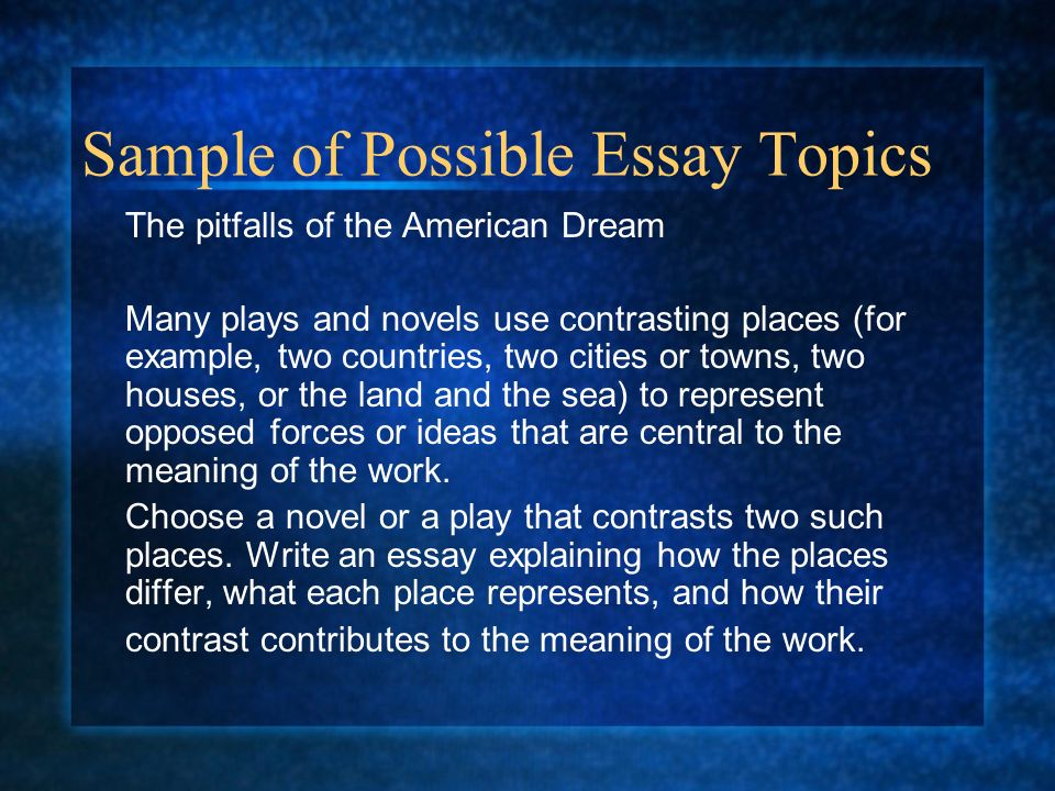 American Government Essay Topics - Studycom
