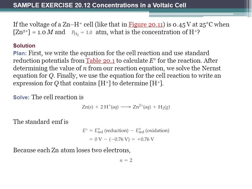 concentration affecting the voltage of a voltaic cell Electrochemistry and concentration effects on electrode potentials concentration changes have on cell voltage concentration of the silver ion affects.